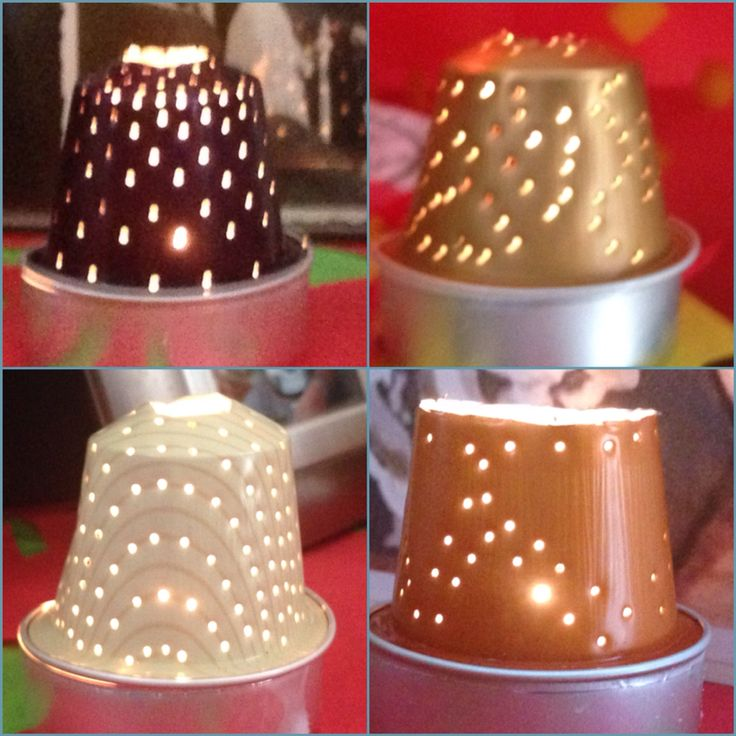 Nespresso capsule candle