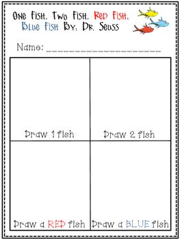 One fish, two fish, red fish, blue fish activity!