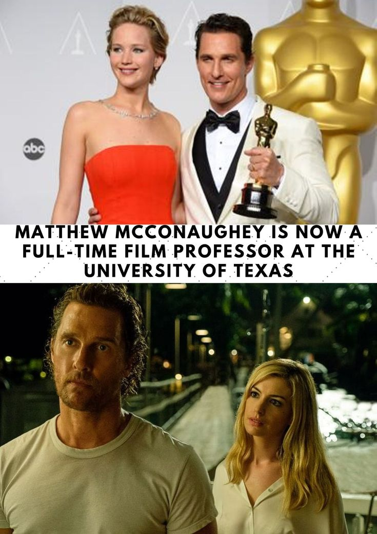 Matthew McConaughey Is Now a Full-Time Movie Professor on the College of Texas
