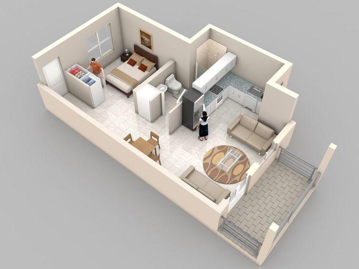 Plano de departamento muy pequeño