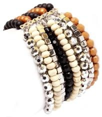 """BROWN EARTH TONES MANY STRANDS BANGLE""""FREE SHIPPING"""" $9.99"""