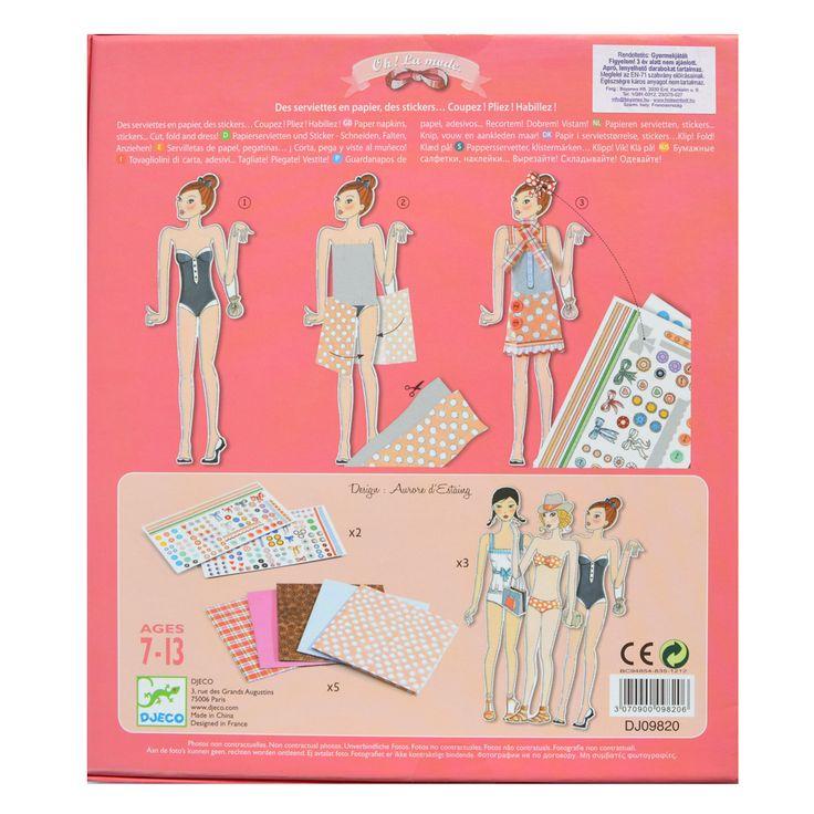 Alma ruhásszekrénye- kreatív öltöztetős, divattervezős játék (Djeco) | Pandatanoda.hu Játék webáruház