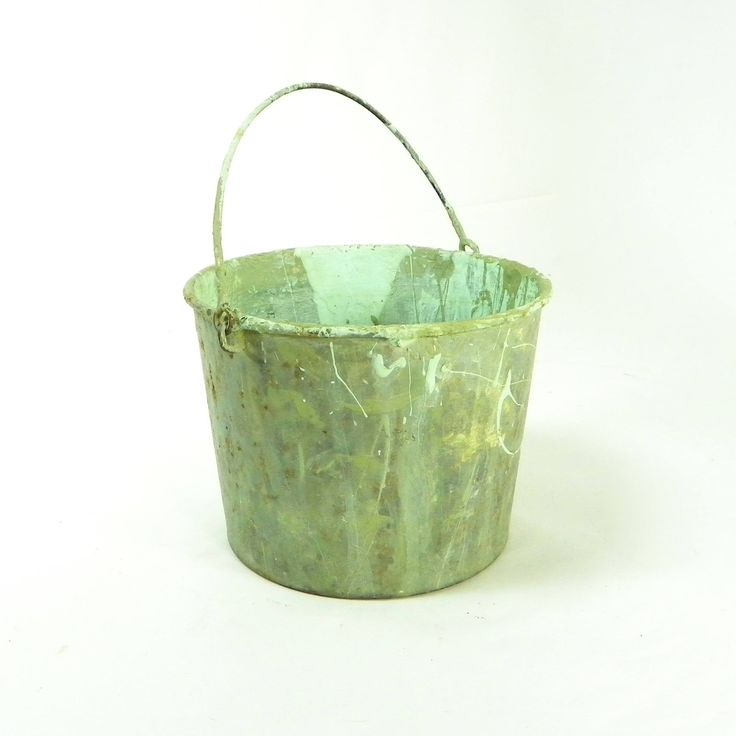 Small Rusty Paint Bucket, Rusty Farmhouse Decor by OldRedHenVintage on Etsy
