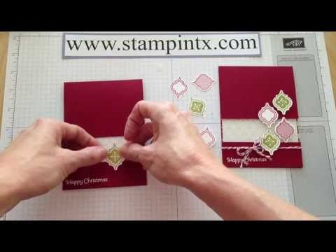 ▶ How to Create Christmas Cards from the Mosaic Madness Stamp Set and Punch - YouTube