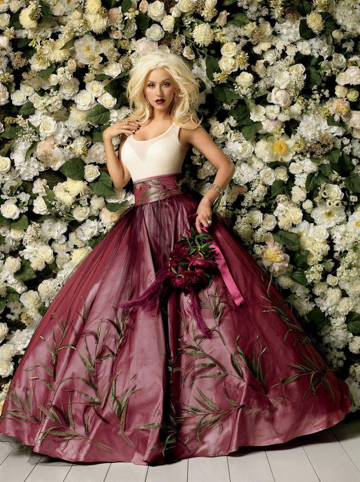 Christina aguilera wedding dress pictures