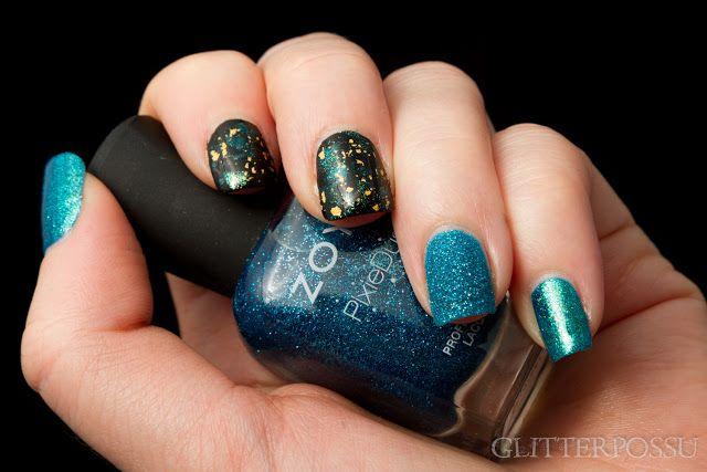 Glitterpossu: Sinivihreä skittlette