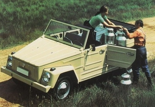 Volkswagen 181 Thing used as farm car..