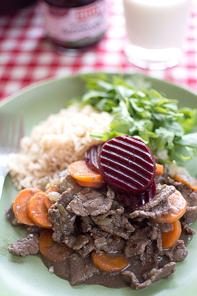 Recept på köttgryta på lövbiff