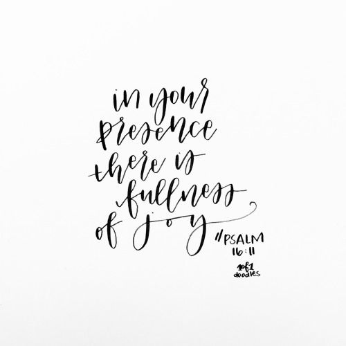 In Your presence there is fullness of joy❤️