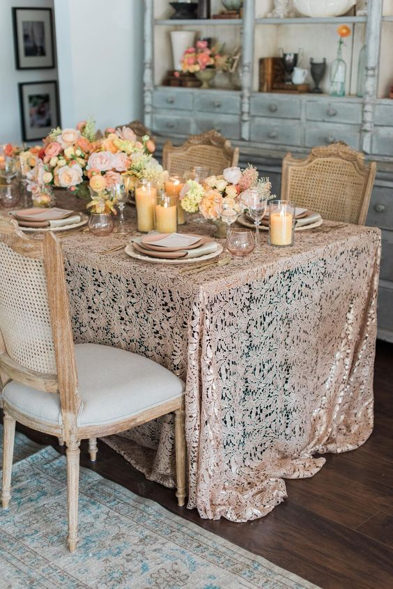 Featured Photographer: Jillian Rose Photography, Featured: La Tavola Fine Linen Rental; Wedding reception idea.