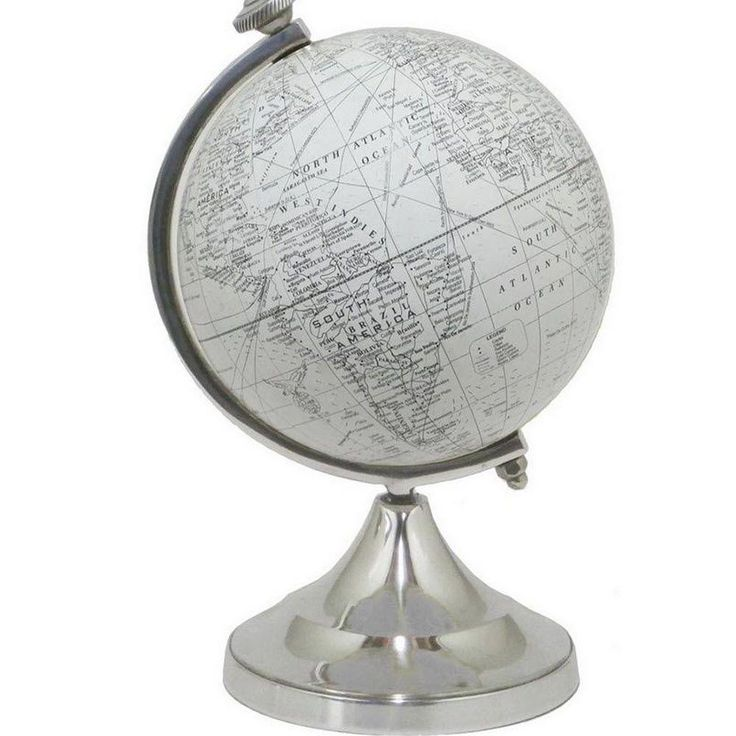 Traveler 10 in. H x 6 in. D Desk Globe Sculpture in