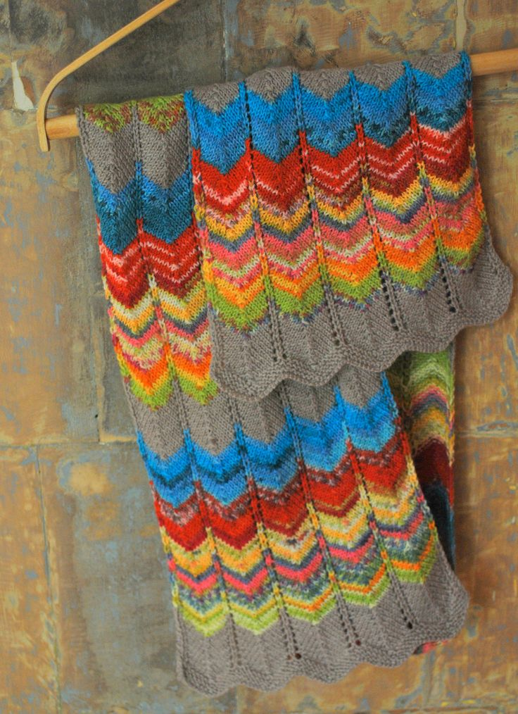 Hand knit scarf, colorful scarf, spring fashion for women, rainbow. via Etsy.