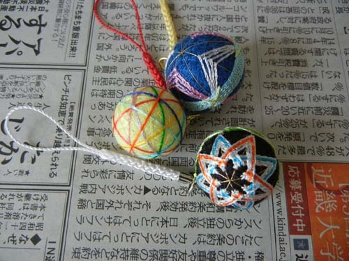 mini temari | Temari ideas | Cultural crafts, Thread art ...