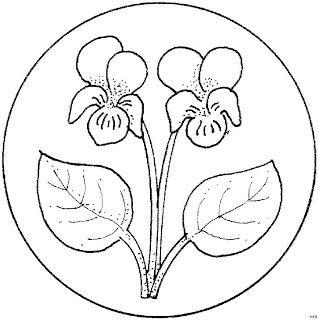 Violets mandala
