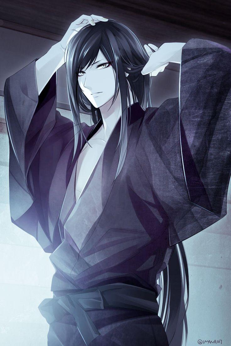 anime guy long hair