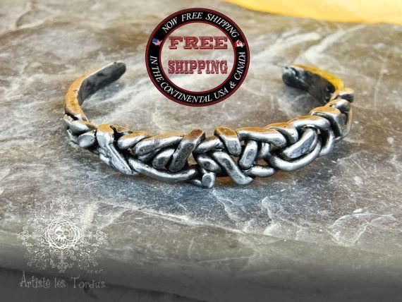 Metal braided bracelet unique design celtic organic