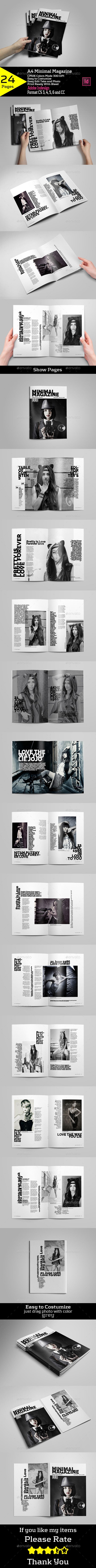 A4 Minimal Magazine Tempalte #design Download: http://graphicriver.net/item/a4-minimal-magazine/12933678?ref=ksioks