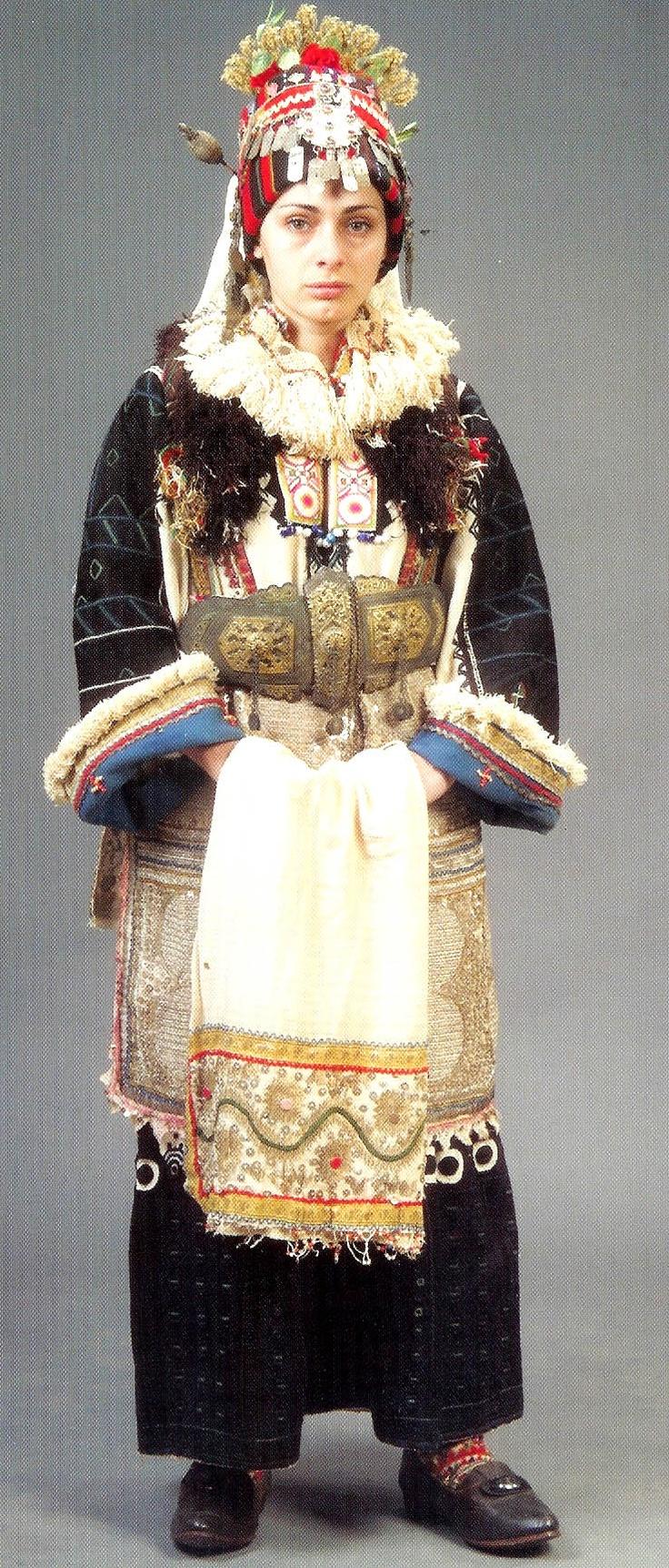 Bridal costume village Mirkovtsi Skopska Crna Gora Macedonia
