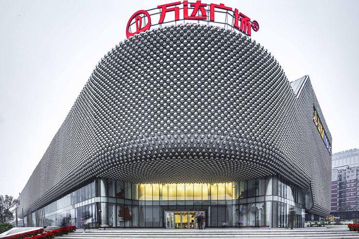 UNStudio wraps hanjie wanda square in 42,333 steel spheres