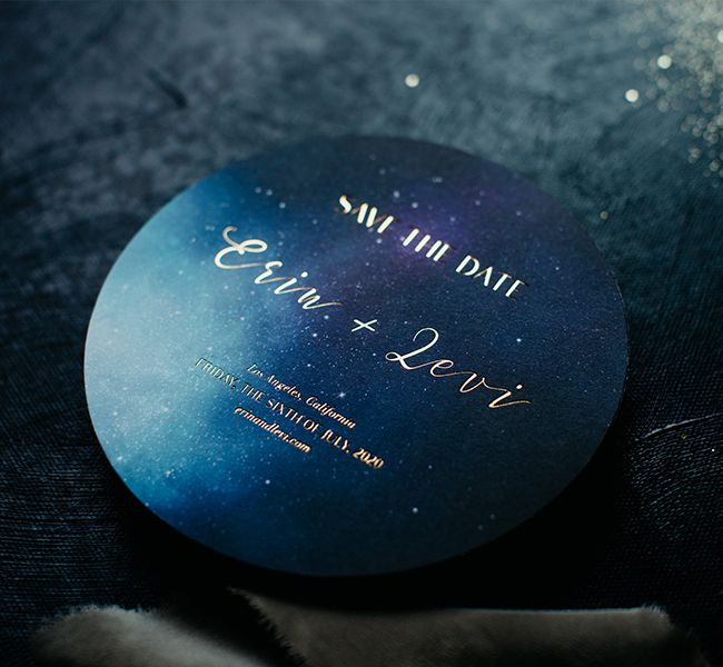 The Erin Suite - Inclosed Letterpress Co. | Custom Stationery | Galactic Wedding Inspiration | Moody Wedding Inspiration