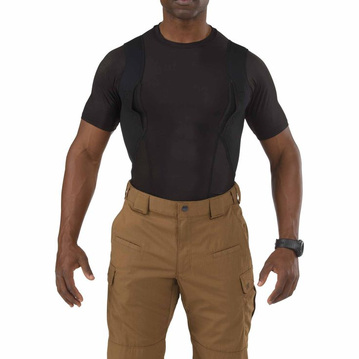 I have this shirt and I love it. It is a very comfortable way for me to wear my weapon and it is completely concealed. Exclusively from 5.11 Tactical®, the Men's Holster Shirt™ is designed to provide a quick, comfortable, and covert solution for concealed carry wear in casual or off-duty environments.