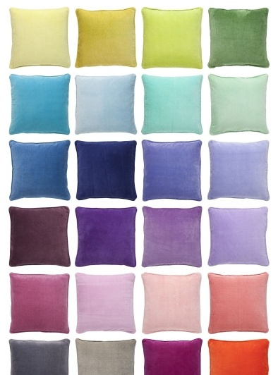 Velvet cushions from Bungalow.   http://www.bungalow.dk/products/VELVET/cushions.50x50/