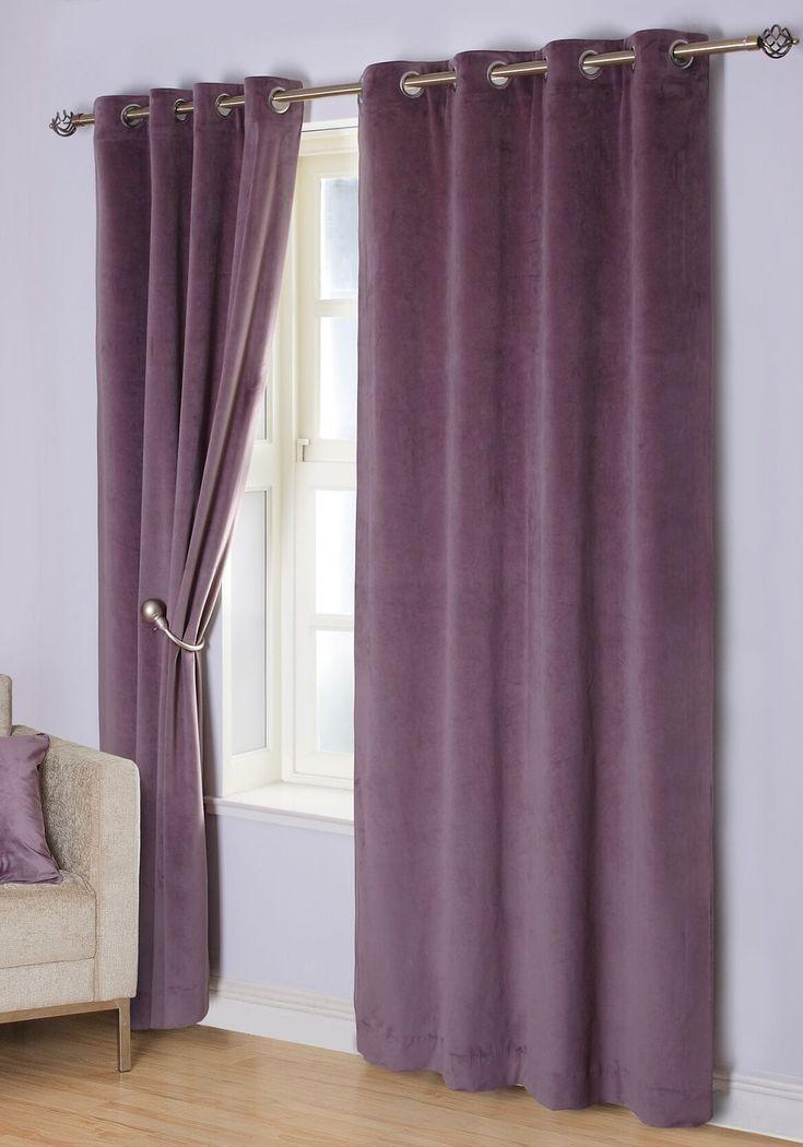 Velvet Curtain Samtvorhang Samt Lila Samt