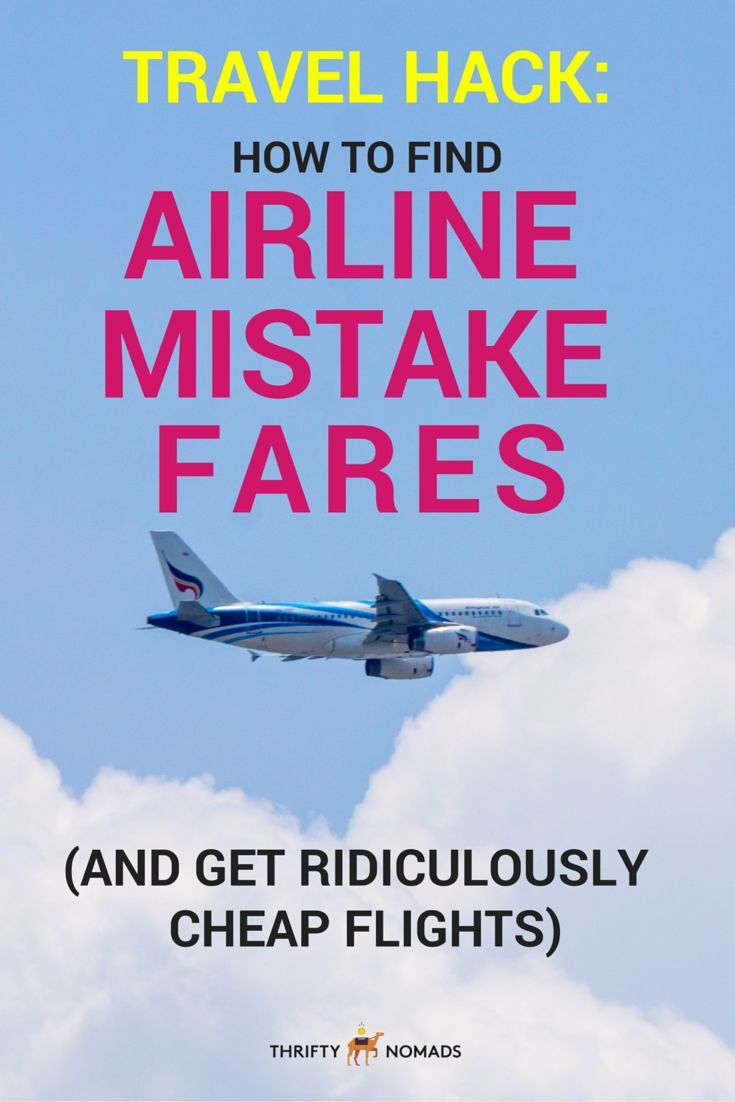Airlines & booking sites sometimes make mistakes. Whether it be human error or a currency conversion mishap, a single mistake can save you serious money. Here's how to find airline mistake fares & save BIG on your next flight! #budgettravel