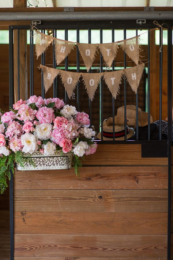 Barn Photo Booth - Pink & Silver Rustic Country Wedding - Plant City Wedding Photographer Jeff Mason Photography