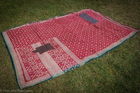 Vintage Kantha Quilt/ Bedspread Wall Hanging by TheLittleTibet