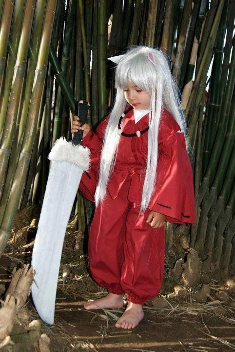 InuYasha child cosplay...this is what happens when your parents are anime fans.