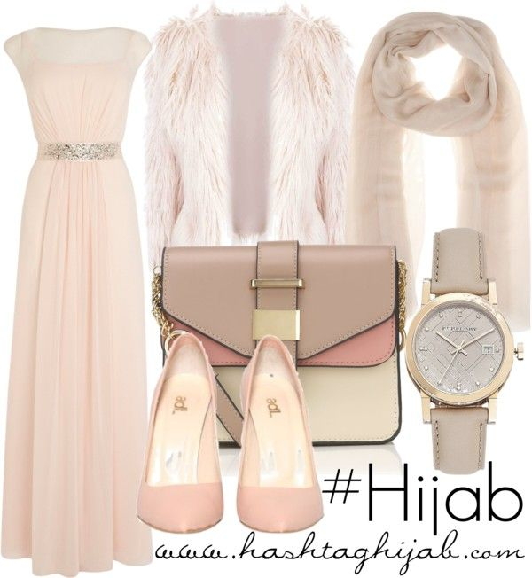 The celeb look. Rose pink dress, plume jacket, peach pink heels, pastel colored purse, beige accessories.