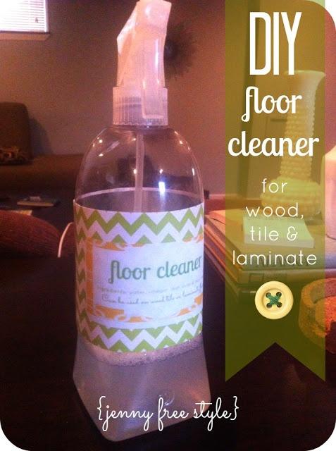 {Jenny Free Style}: DIY floor cleaner.  1 cup vinegar, 11/2 cup warm water, 1 tbsp dish soap 1-2Tbsp borax, 10-15 drops essential oil