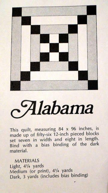 Alabama quilt block