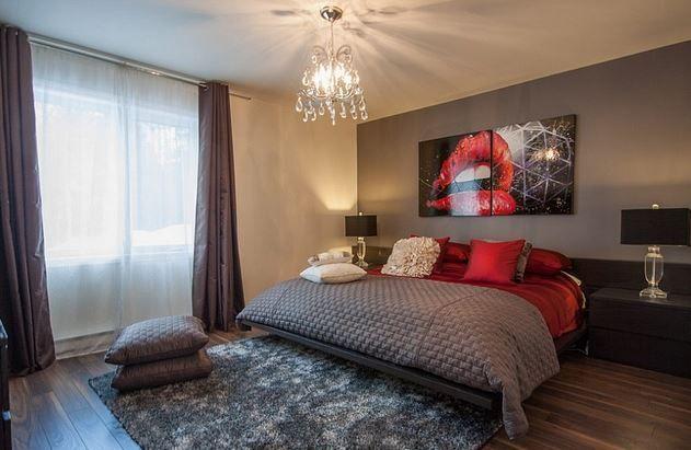 Tutkulu Çiftlere: Kırmızı – Gri Yatak Odası Modelleri