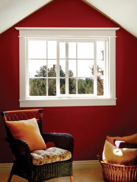 Gliding along a track, sliding windows have at least one operating window that slides horizontally over or past the other window. They are most often used in modern- or contemporary-style houses. Photo courtesy of Jeld Wen Windows and Doors