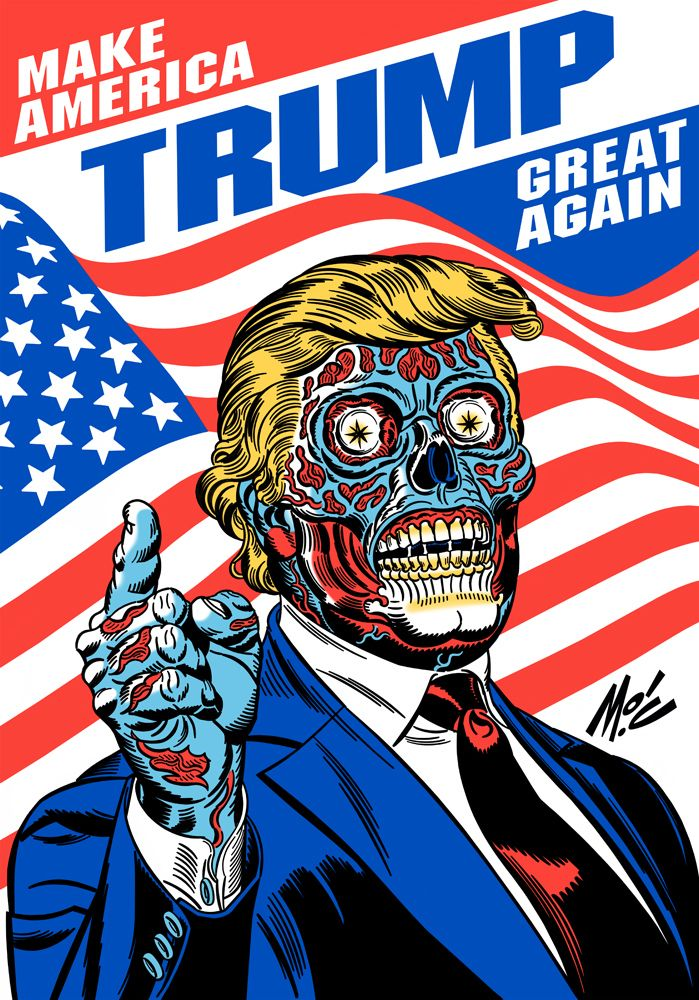 Mitch O'Connell: The REAL Donald Trump revealed! TWO NEW Ghastly Horror T-Shirts!!!
