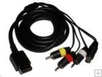 S-video/AV cable for PS2/PS3 Sony Playstation (gold plate)
