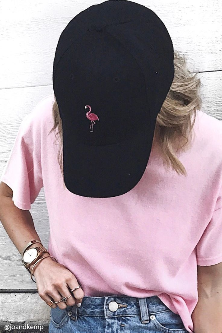 Flamingo Embroidered Dad Cap
