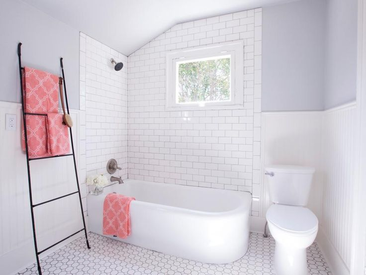 White subway is best used with a dark color grout like gray or black. Especially in the bathroom because it is less likely to get stained with mold and soap residue.