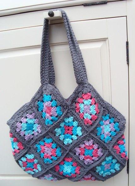 Crochet granny bag CROCHET Pinterest