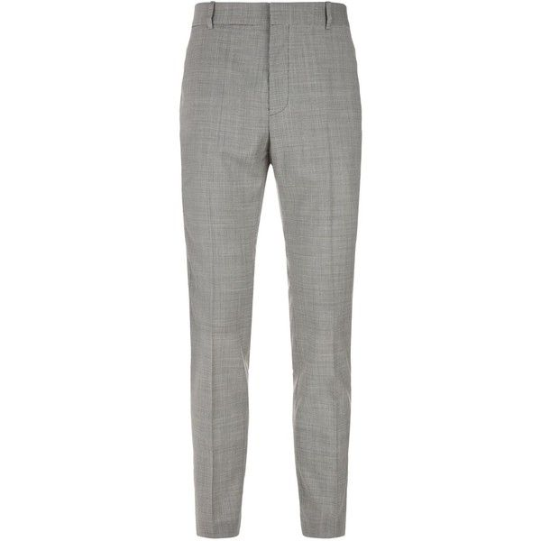 Stella McCartney Pax Micro Check Trousers (27.430 RUB) ❤ liked on Polyvore featuring men's fashion, men's clothing, men's pants, men's dress pants, mens leopard print pants, mens slim fit pants, mens slim dress pants, mens slim pants and mens slim fit dress pants