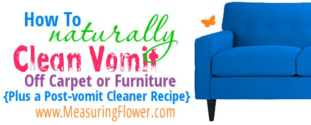 How to naturally clean vomit off carpet or furniture with EO