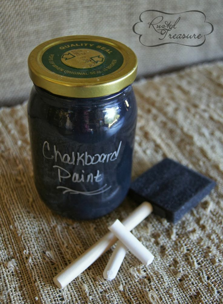 Diy Chalkboard Paint Easy Fun To Make Crafty Pinterest