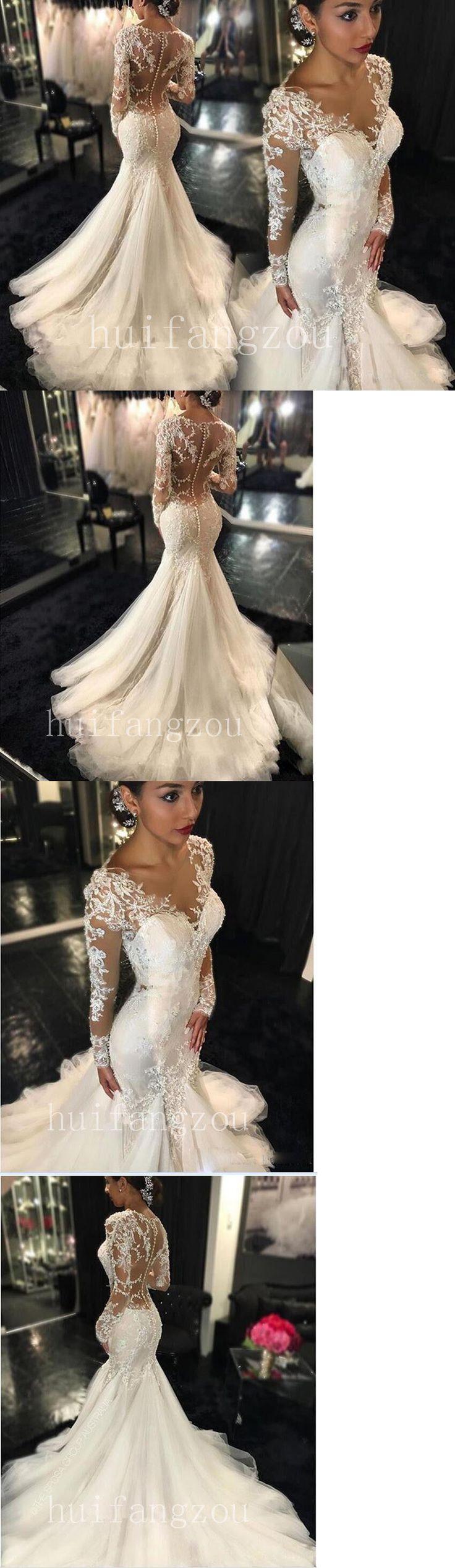 Wedding Dresses: White Ivory Mermaid Wedding Dress Bridal Gown Size 4 6 8 10 12 14 16 18 20 Plus -> BUY IT NOW ONLY: $173.99 on eBay!