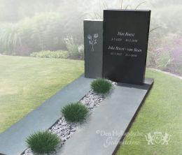 Moderne antraciete grafsteen