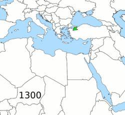 Ubicación de Imperio otomano