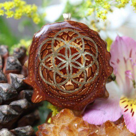 Natural s Seed of Life | Třetí oko Pinecones