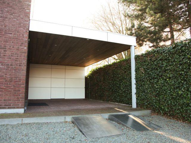 Veranclassic Carport Met Plat Dak En Berging In Trespa In 2020 Gross Garage