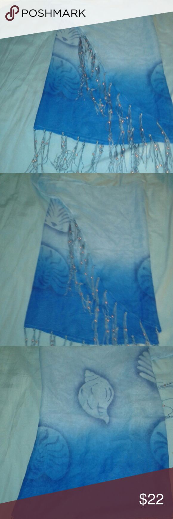 Skirt swimsuit cover up A pretty aqua and beaded skirt swimsuit cover up. Ready for spring?? Skirts Mini